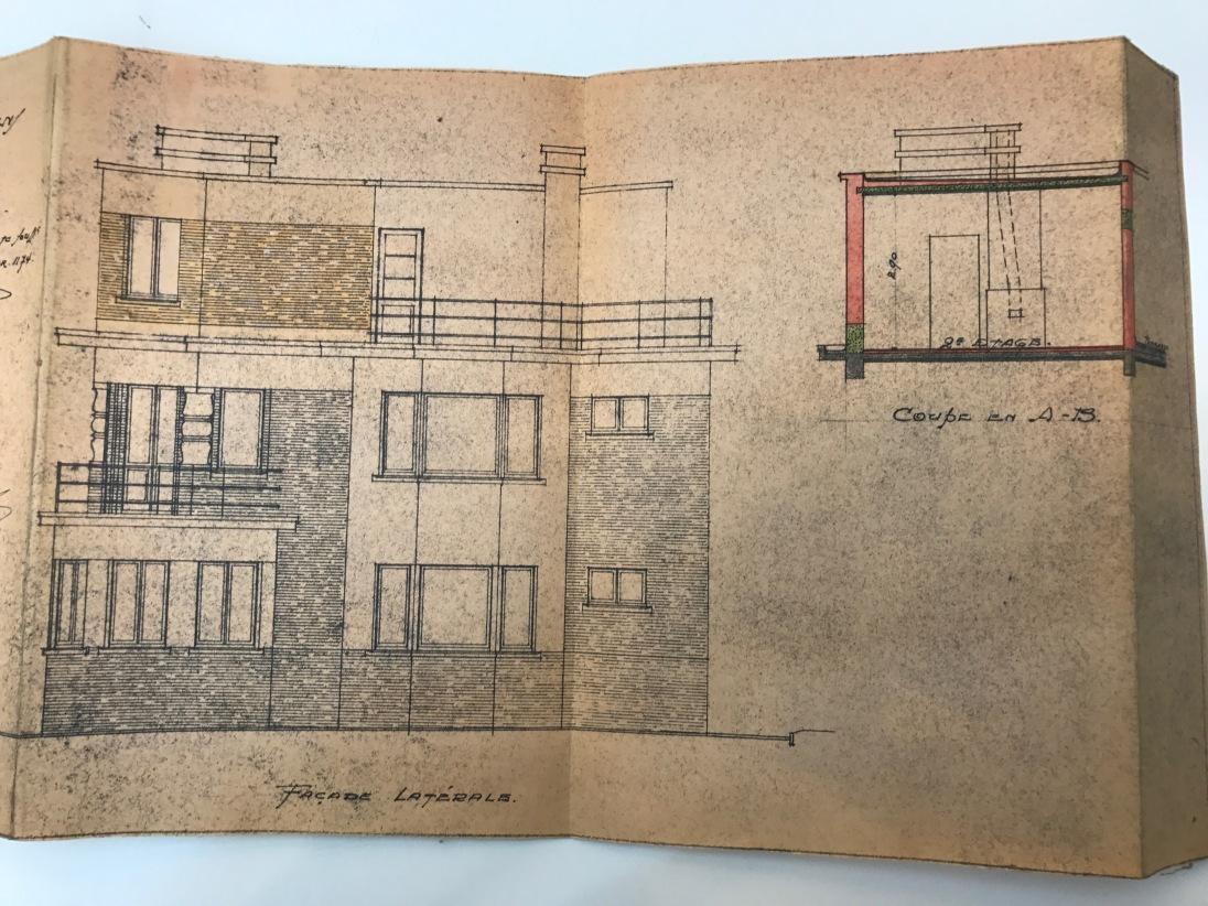 19480604 Plan façada latérale